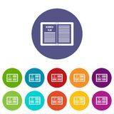 Business strategy plan set icons Royalty Free Stock Images