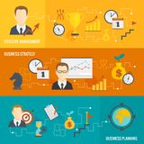 Business strategy planning banner set Royalty Free Stock Photos