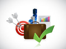 Business strategy planning concept. Illustration design over a white background Royalty Free Stock Images