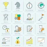 Business strategy planning icon flat line Stock Photography