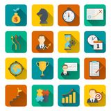 Business strategy planning icon flat Royalty Free Stock Photos