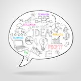 Business strategy and planning in a speech bubble Stock Photos