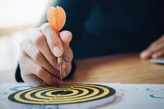 Business strategy planning success target goals. stock images