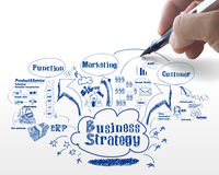 Business strategy process Stock Photo