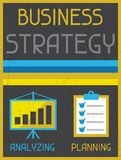 Business strategy. Retro poster in flat design Stock Photography
