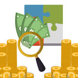 business strategy search money coins Stock Photo