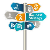 Business Strategy Sign Royalty Free Stock Photo