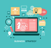 Business strategy template. Business strategy. Infographic template. Modern flat design concept for web banners, web sites. The file is saved in the version Stock Image