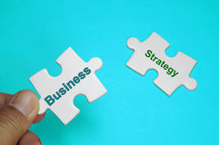 Business, Strategy text - Business Concept Royalty Free Stock Image
