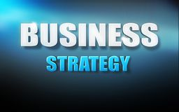 Business strategy text 3D background blue. Texture Royalty Free Stock Photos