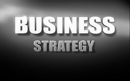 Business strategy text 3D background black white. Business strategy text 3D background blue texture Royalty Free Stock Photo
