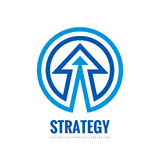 Business strategy - vector logo template concept illustration. Development sign. Abstract arrow in circle shape. Design element.  Stock Image