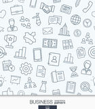 Business strategy wallpaper. Black and white marketing seamless pattern. Royalty Free Stock Photos