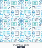 Business strategy wallpaper. Marketing seamless pattern. Stock Image