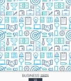 Business strategy wallpaper. Marketing seamless pattern. Stock Image