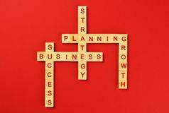 Business strategy word cloud stock photography