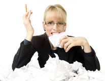Business stress! Royalty Free Stock Photo