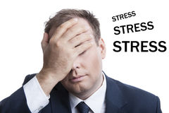 Business in stress Royalty Free Stock Photos