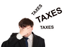 Business in stress with title taxes Stock Photography