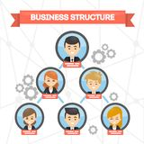 Business structure concept. royalty free illustration
