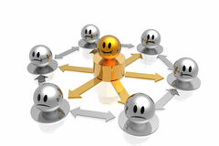 Business structure with golden chief Royalty Free Stock Image