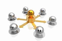 Business structure with golden chief Stock Image