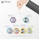 Business structure. Organisation chart. Infographic design. Vector Stock Photography