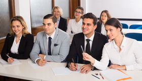 Business students in classroom Stock Image