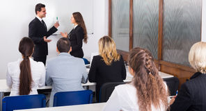 Business students in classroom Stock Photography