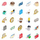 Business studio icons set, isometric style. Business studio icons set. Isometric set of 25 business studio vector icons for web isolated on white background Royalty Free Stock Photography