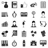 Business studio icons set, simple style Stock Images