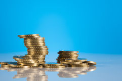Business stuff with coins Royalty Free Stock Image