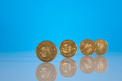 Business stuff with coins Stock Images