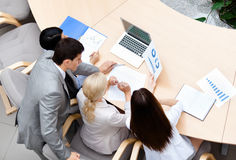 Business stuff at the meeting Stock Photography