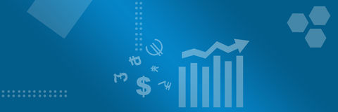 Business Style Background with Chart Banner Stock Images