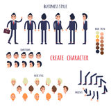 Business Style Create Your Character Vector Poster Stock Photo