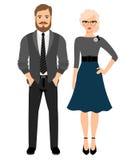 Business style fashion couple Royalty Free Stock Photos