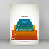 Business style infographics report presentation template A4. Design business presentation template. Vector illustration for technology infographics, number Royalty Free Stock Image