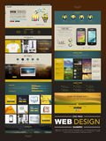 Business style one page website design Royalty Free Stock Image
