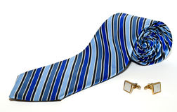 Business style: Tie and cuffs Royalty Free Stock Photos