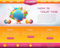 Business Style Web Template Vector Design Set. Vector template, you can change this image that it was uploaded also with eps10 file Stock Photos