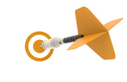 Business Success. Concept. Dart Orange Stock Images