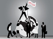 Business success royalty free illustration
