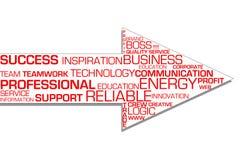Business success arrow stock images