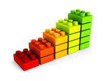 Business success bar chart from building blocks Stock Image