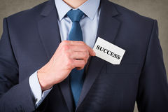 Business Success Card. Concepts Working Royalty Free Stock Photo