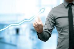 Business success chart concept Stock Images