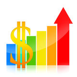 Business success charts Stock Images