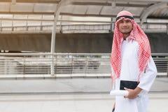 Business success concept : arab business people meeting team par. Tner ,happy hand shake communication ,selective focus Stock Images