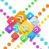 Business success concept. Arrows. Business success concept, Vector illustration modern template design Stock Image